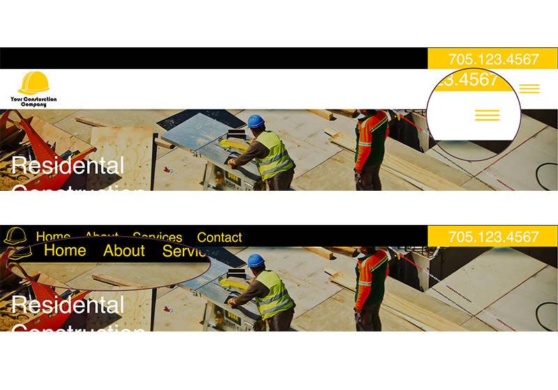 Mock Website Design Navigation