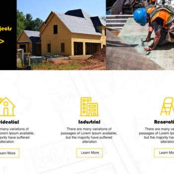 Mock Construction Homepage